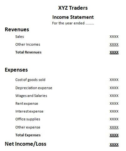 one-step income statement