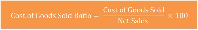 cost of goods sold ratio